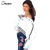 CWLSP Casual Sweatshirt Women Hoodie Long Sleeve Cross lace Up Collar Tops Sportwear Crop Top Pullover bts tracksuit QA1593