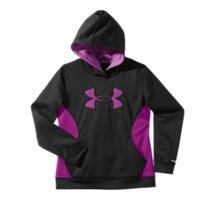 Under Armour Girls' Armour Fleece Storm Big Logo Hoodie