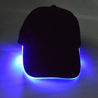 Light Up Baseball Cap +Free Gift Necklace