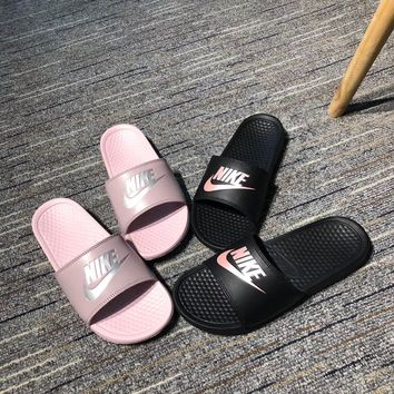Nike Women Pink Casual Fashion Sandal Slipper Shoes