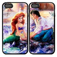 Ariel The Little Mermaid Custom couple Case for iPhone 4 and iPhone 5 case.