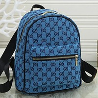 GG canvas embroidered letters ladies shopping backpack school bag Daypack