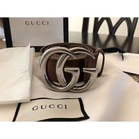 Gucci Marmont Brown Leather Belt