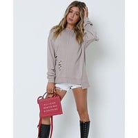Now And Then Sweatshirt - Taupe