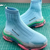 Balenciaga Speed Stretch Knit Mid Sneakers - Best Online Sale