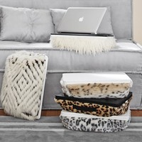 Faux Fur Superstudy Lapdesk