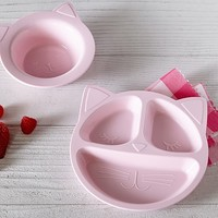 Silicone Kitty Shaped Plate & Bowl