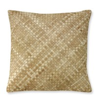 Woven Leather Hide Pillow Cover