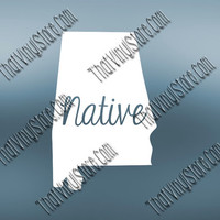 Alabama Home Decal | Alabama State Decal | Homestate Decals | Native Sticker | Love Decal  | Car Truck Decal | Car Stickers | 512