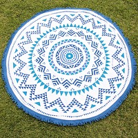 Final Sale - Belaza Round Beach Towel by Oh Lay