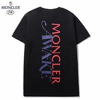 Moecler New fashion letter print women top shirt Black
