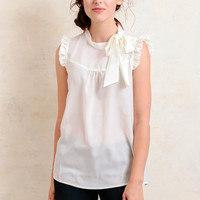 Cypress Point Blouse In Cream