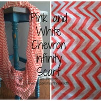 Chevron Olive and White Infinity scarf