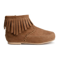 H&M - Fringed Boots - Brown - Kids