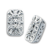 Genuine Diamond Accent Lace Earrings