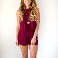 Simply Sweet Romper - Crimson Red