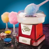 Nostalgia Electrics PCM805RETRORED Retro Series Hard & Sugar-Free Candy Cotton Candy Maker