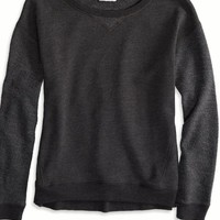 AEO Women's Mixed Fleece Sweatshirt