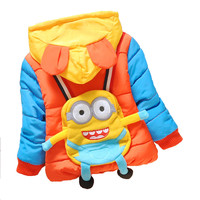 Baby Winter Coat Minions Brand Boys Outerwear Character Coat Overcoat Infant Thick Warm Baby Quilted Jacket Girls Outwear Hoozim