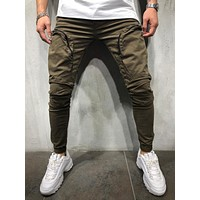 Men's Street Style Canvas Cargo Pants 3993