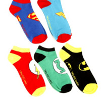 DC Comics Superhero No-Show Socks 5 Pair