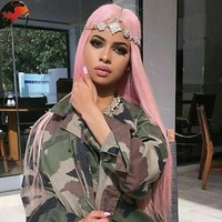 Pink Beauty Lace Front Wig 26-30 inches!!