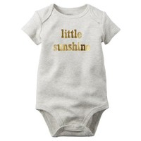 Baby Girl Carter's Sparkly Slogan Bodysuit