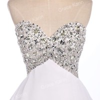PRINCESS GIRLS Beaded Graduation Prom Ball Cocktail Short Party Evening Dresses