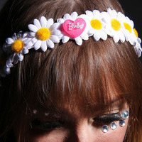 Barbie  LED Flower crown with Barbie Center for raves EDC and Music Festivals