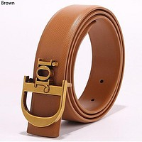Dior simple retro men's and women's wild letter buckle belt