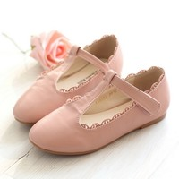 Ophelia Pink Retro T-strap Girls Shoes