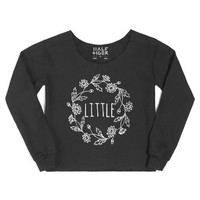 Little (Hippie)-Female Black Hoodie