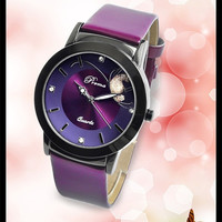 2015 new fashion watch women casual quartz watch leather band women dress watch = 1932890372