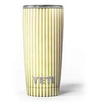 The Golden Vertical Stripes - Skin Decal Vinyl Wrap Kit compatible with the Yeti Rambler Cooler Tumbler Cups