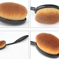 Toothbrush Shape Professional Makeup Brushes Face Liquid Foundation Blending Powder Contour Blush Brush Fashion Kabuki Brushes