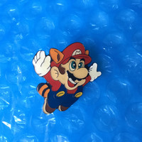 ON SALE 1993 Raccoon Mario Pin New Nintendo NES 1993 Super Mario 3 Metal Glossy Pin Rare Vintage Retro Noa Tanooki Suit Great Gift