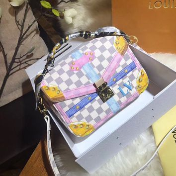 Louis Vuitton Women Shopping Leather Tote Crossbody Satchel Shoulder Bag Handbag