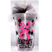 16oz Browning Country Girl Clear Tumbler by VinylKraz on Etsy