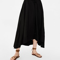 SKIRT WITH TIES ON THE WAIST DETAILS