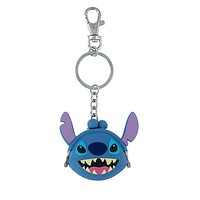 Disney Parks Stitch Coin Purse Silicone Keychain New with Tags