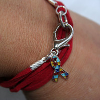 Autism Awareness Unisex Suede Charm Wrap by ICandyCrystals on Etsy