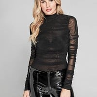 Solid Gilded Rose Bodysuit at Guess