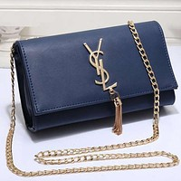 Best Gifts YSL Yves Saint Laurent Women Shopping Leather Metal Chain Crossbody Satchel Shoulder Bag
