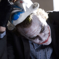 The Joker Dark Knight Movie Removing Clown Mask Gallery Print