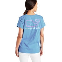 Two-Toned Vintage Whale Relaxed Pocket Tee