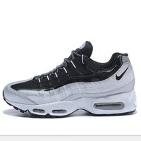 NIKE Air max 95 Sneakers Running Sports Shoes black-white  H-MDTY-SHINING