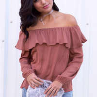 Heli Off The Shoulder Silky Top