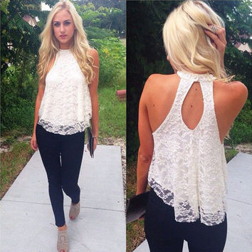 Casual Solid Top Women 2016 Halter Top Cropped Femme Blouses Vest Womens Off Shoulder FREE SHIPPING
