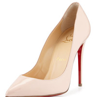 Pigalles Follies Patent 120mm Red Sole Pump, Ballerina Pink