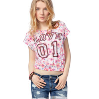 Floral Banded Boxy Tee - Aeropostale